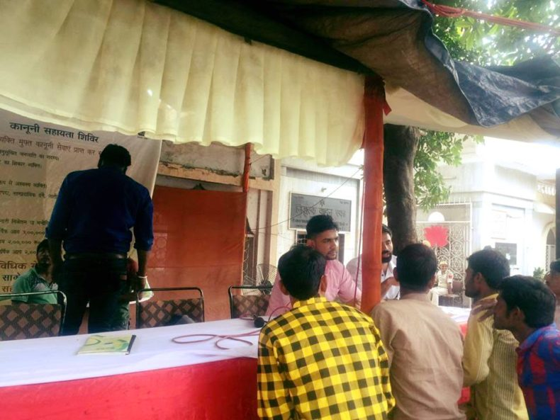 Dlsa South Elished Legal Aid Clinics Help Desk At Chattarpur Temple On 23 09 2017