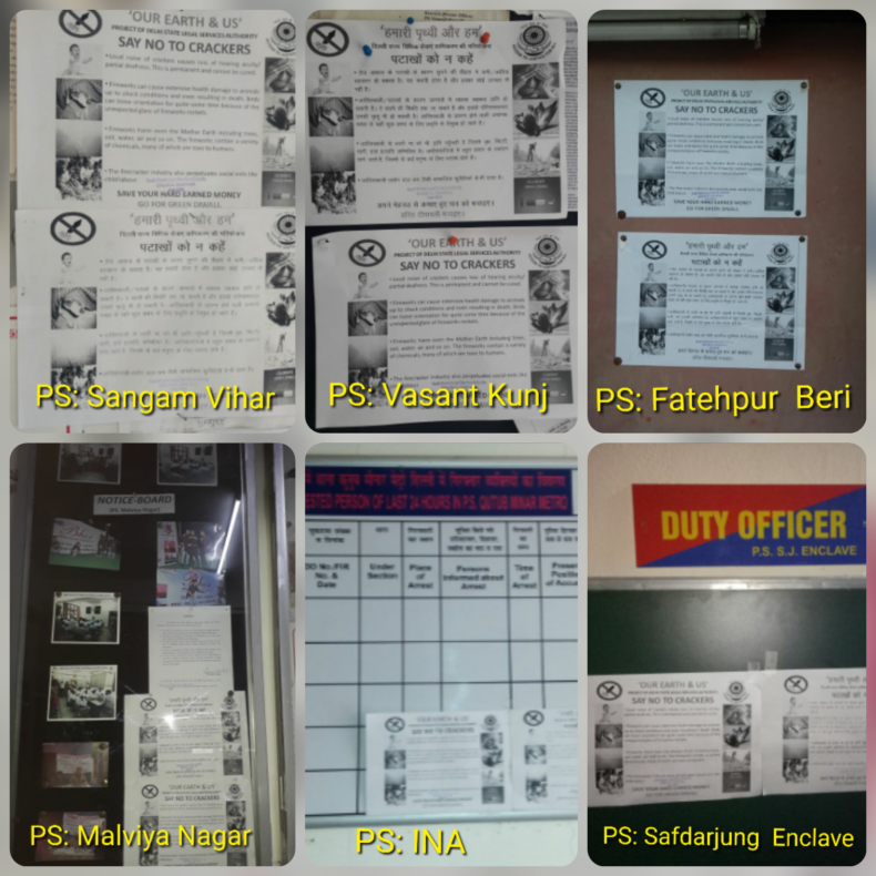 """DLSA (SOUTH) INITIATES A MOVE UNDER THE PROJECT """"OUR EARTH & US"""" UNDER THE AEGIS OF DSLSA FORWARDS """"SAY NO TO CRACKERS"""" BY PASTING THE PAMPHLETS"""