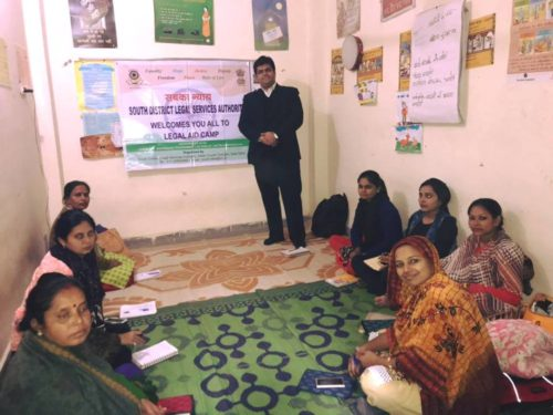 LEGAL AWARENESS PROGRAMME AT COMMUNITY LEVEL IN THE AREA OF MADANPUR KHADAR JJ COLONY (NEAR JALEBI CHOWK), NEW DELHI ON 09.12.2017