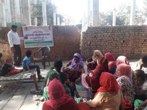 DLSA (SOUTH) ORGANISED LEGAL AWARENESS PROGRAMME IN THE AREA OF AMBEDKAR NAGAR, NEAR RAMABAI GOVT. WOMEN PG COLLEGE ON 27.02.2018