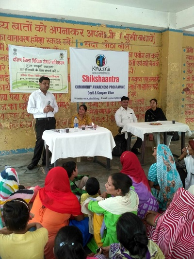 DLSA (SOUTH) ORGANISED LEGAL AWARENESS PROGRAMME IN THE AREA OF SANGAM VIHAR, NEW DELHI ON 30.05.2018