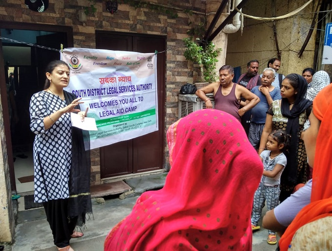 DLSA (SOUTH) ORGANISED LEGAL AWARENESS PROGRAMME IN THE AREA OF MALVIYA NAGAR, NEW DELHI ON 28.07.2018