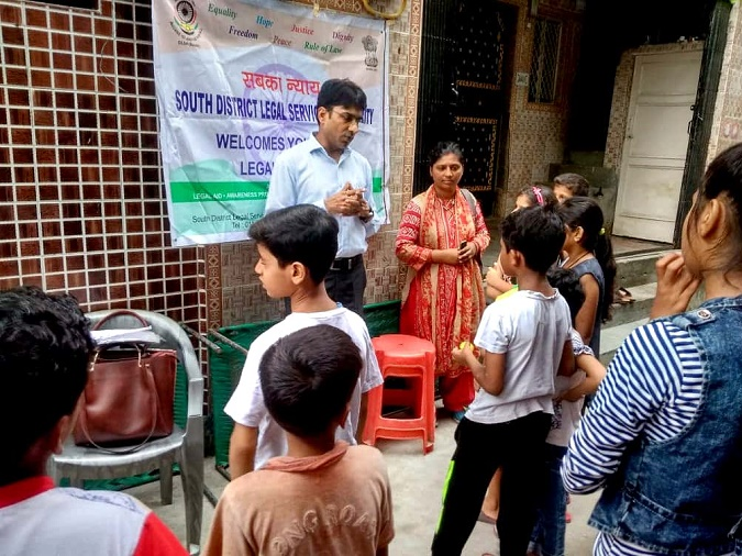 DLSA (SOUTH) ORGANISED LEGAL AWARENESS PROGRAMME IN THE AREA OF DAKSHINPURI, NEW DELHI ON 12.08.2018