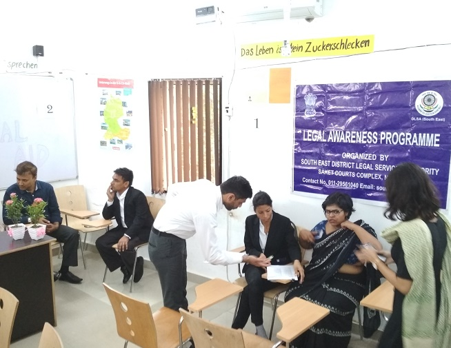 DLSA (SOUTH) ORGANISED LEGAL AWARENESS CAMP IN THE AREA OF GAUTAM NAGAR, NEW DELHI ON 01.09.2018