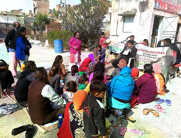 DLSA (SOUTH) ORGANISED LEGAL AWARENESS PROGAMME IN THE AREA OF DAKSHIPURI, NEW DELHI ON 21.12.2018
