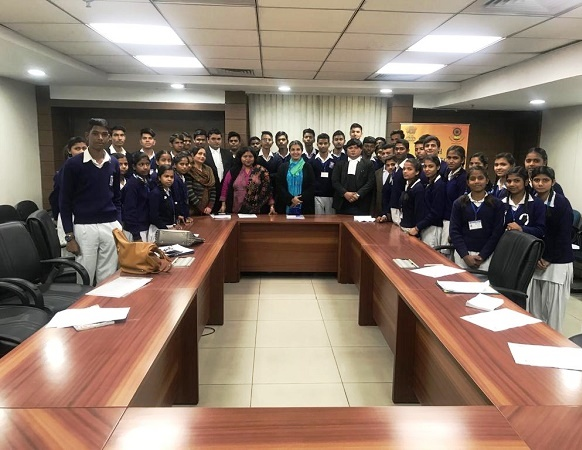 VISIT OF STUDENTS FROM G(CO-ED) SS, NEB SARAI, NEW DELHI TO SAKET COURTS COMPLEX ON 13.02.2019