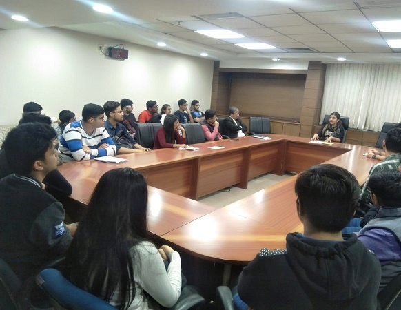 DLSA(SOUTH) CONVENED VISIT OF SHAHEED BHAGAT SINGH COLLEGE TO SAKET COURT COMPLEX ON 12.03.2019