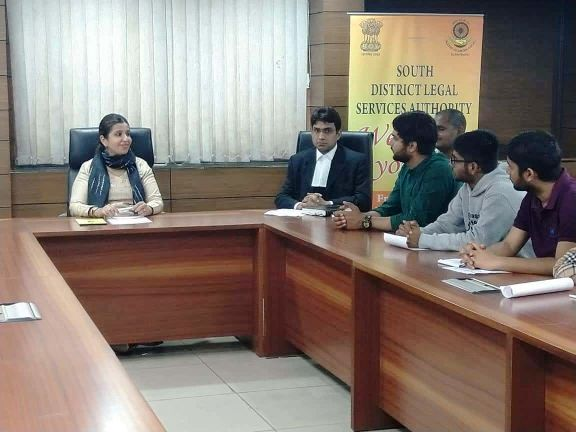 DLSA(SOUTH) CONVENED VISIT OF SHAHEED BHAGAT SINGH COLLEGE TO SAKET COURT COMPLEX ON 11.03.2019