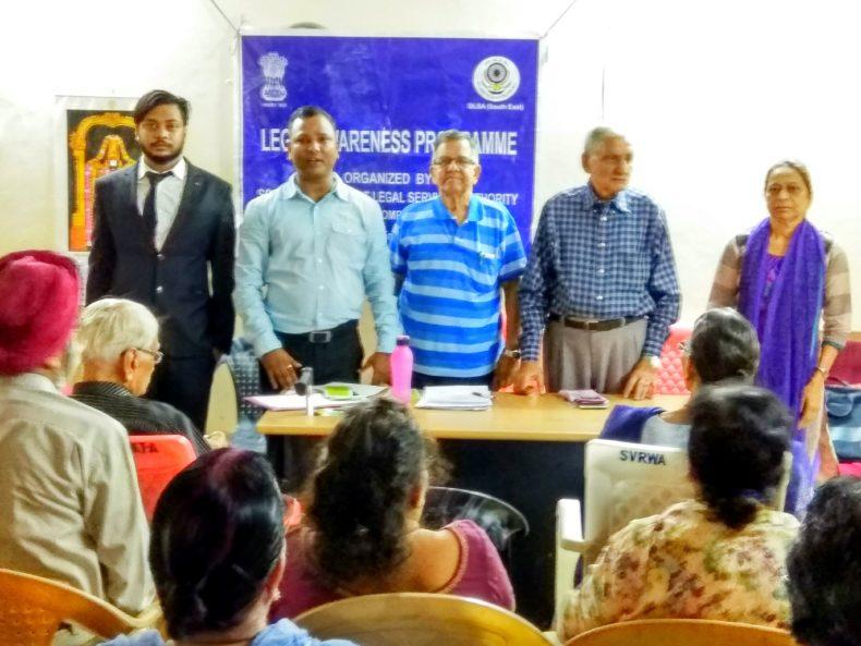 Legal Awareness Progrmme for Senior Citizen's on 25.09.2017