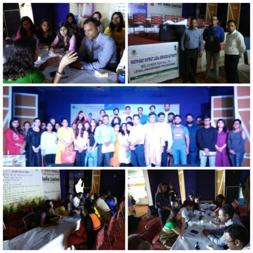 DLSA South East Organized by Legal Awareness Cum aid camp Programme on 28.09.2017 and 29.09.2017