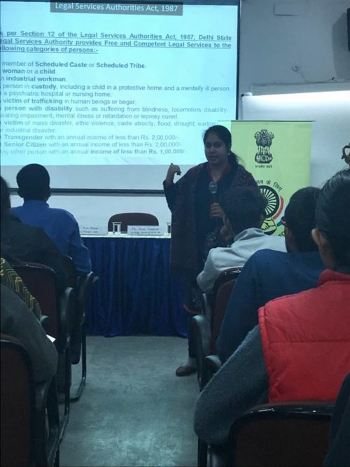 DLSA South East organised Legal awareness Session on 08.01.2018