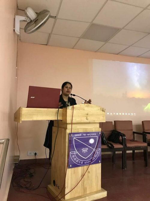 DLSA South East organized by a Legal Awareness Programme at PGDAV College on 31.01.2018