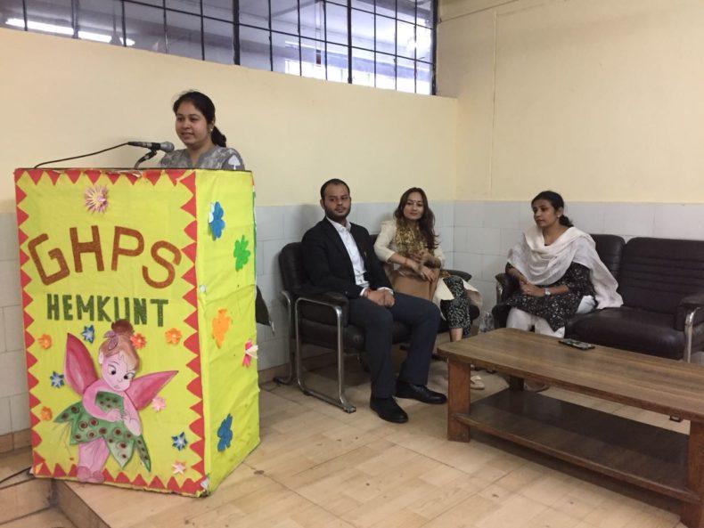South-East Dlsa organized a legal awareness session at Guru Harkishan Public School, Hemkunt Colony on 10.05.2018