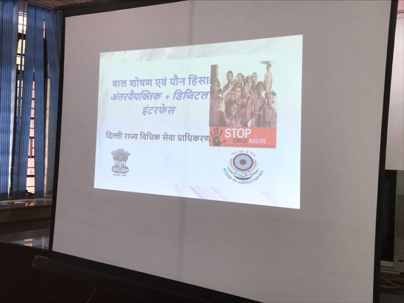 South-East DLSA organized by legal awareness session at Government Girls Senior Secondary School No. 1, East of Kailash on 01.05.2018