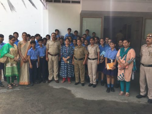 South East-DLSA organized by visit to the police station at Lodi Colony for students of Air Force Bal Bharati Public Suchool on 14.05.2018
