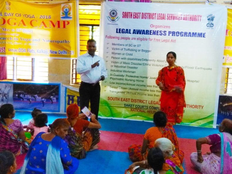 DLSA South-East organised by Legal Awareness Camp on 22.05.2018