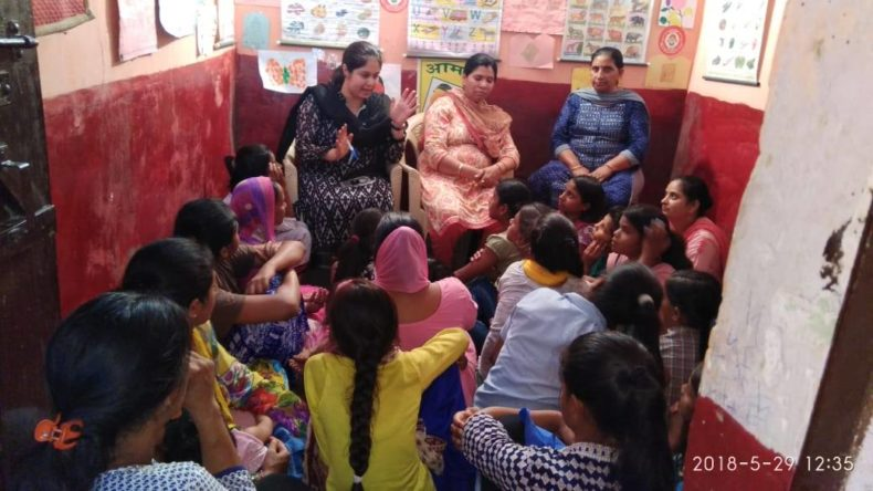 South East DLSA Awareness Menstrual Hygiene Day at Anganwadi Centre on 29.05.2018
