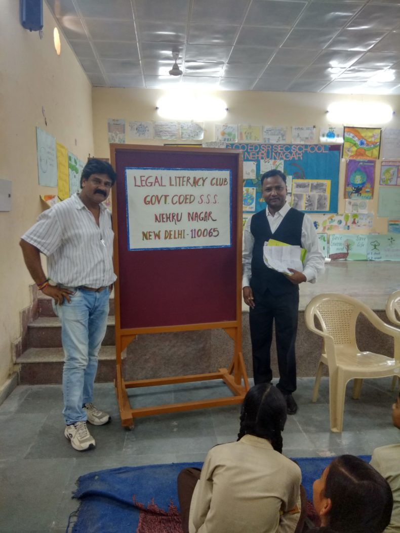 DLSA(SE) organized by Legal Literacy Club Programme on 13.09.2018