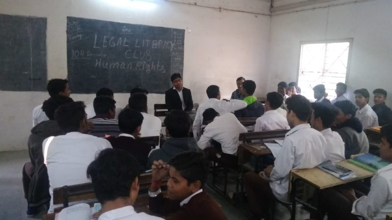 DLSA(SE) conducted Legal Literacy Classes Programme at GBSSS Tajpur Pahari New Delhi on 13.12.2018