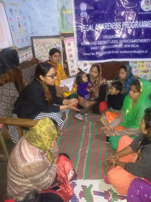 DLSA(SE) Conducted by Legal Awareness Programme at Aganwadi Center at Dakshin Puri, Dr. Ambedkar Nagar New Delhi on 13.12.2018