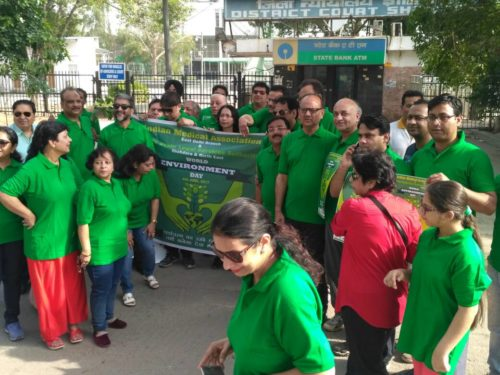 "DLSA Shahdara carried out a ""Green Walk"" on the eve of World Environment Day 2017"