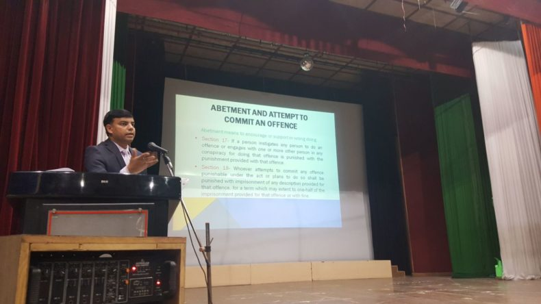 A Lecture at Vivekanand Public School on dt. 21.09.2017