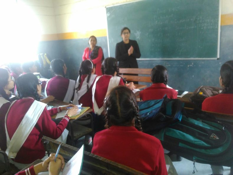 Legal Awareness Programme at Sarvodaya Kanya Vidhyalaya, D-Block, Seemapuri, Delhi on 22.02.2018