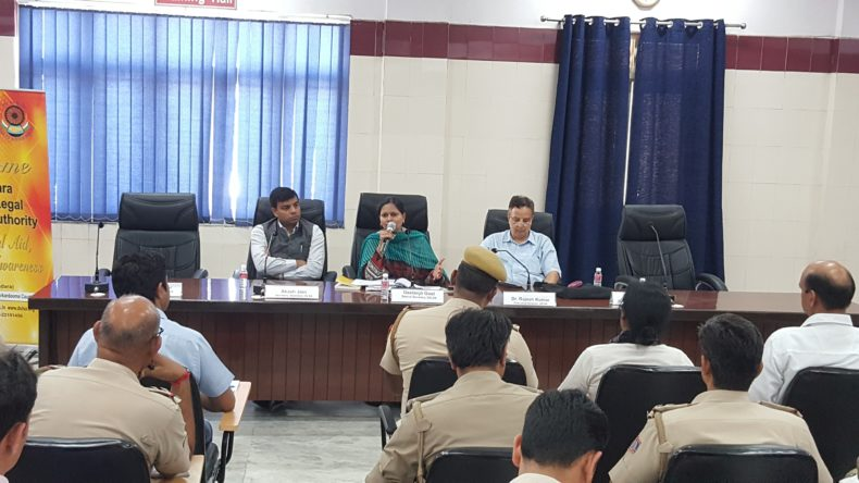 DLSA Shahdara, DLSA East and DLSA North East participated in Orientation and Training Programme for the Child Welfare Police Officers/ Juvenile Welfare Officers of Shahdara, East, North East District organized by Delhi State Legal Services Authority on 09.04.2018 at Swabhiman Parisar, Kasturba Nagar, Shahdara, Delhi.