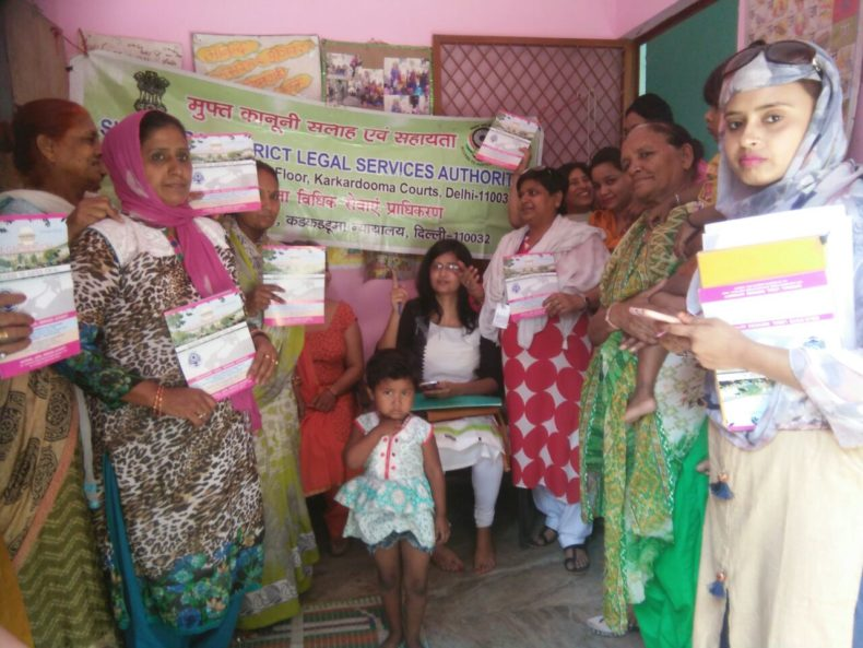 "DLSA Shahdara organized Legal Awareness Programme on the topic ""Protection of Women from Domestic Violence Act, 2005"" at Kasturba Nagar Slum Area, Near Red Light, Delhi on 10.05.2018."