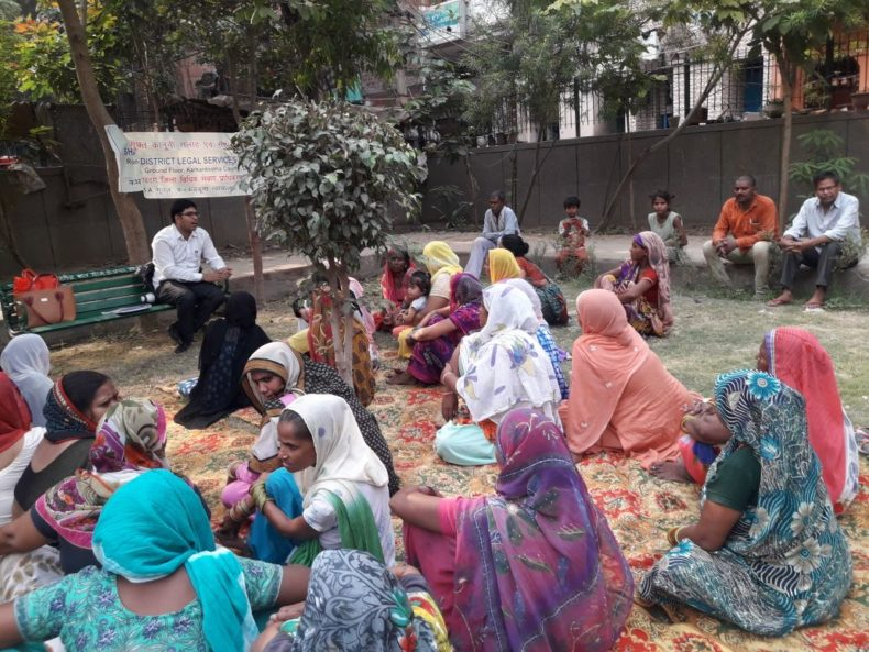 "DLSA Shahdara organized Legal Awareness Programme on the topic ""Labour Rights"" at E-Block, Nand Nagari, Delhi on 12.05.2018."