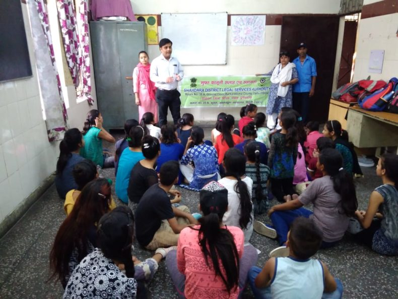 "DLSA Shahdara organized Legal Awareness Programme on the topic ""Sexual Harassment at Work Place "" at Sunlight Colony, Delhi on 16.05.2018."