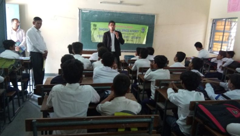 "DLSA Shahdara organized Legal Awareness Programme on the topic ""Rights of Children to Free and Compulsory Education Act, 2009 "" at Sarvodaya Bal Vidhalaya, New Jafrabad, Delhi on 18.05.2018."