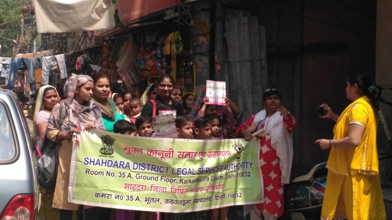 "DLSA Shahdara organized Legal Awareness Programme on the topic ""Protection of Children from Sexual Offences Act, 2012"" at Jhilmil Colony, Near Primary School, Delhi on 10.05.2018."
