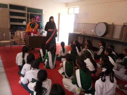 """DLSA Shahdara organized Legal Awareness Programme on the topic """"Protection of Children from Sexual Offences Act, 2012"""" at Govt. Girls Senior Secondary School, Sunder Nagari, F-Block, Delhi on 16.05.2018."""