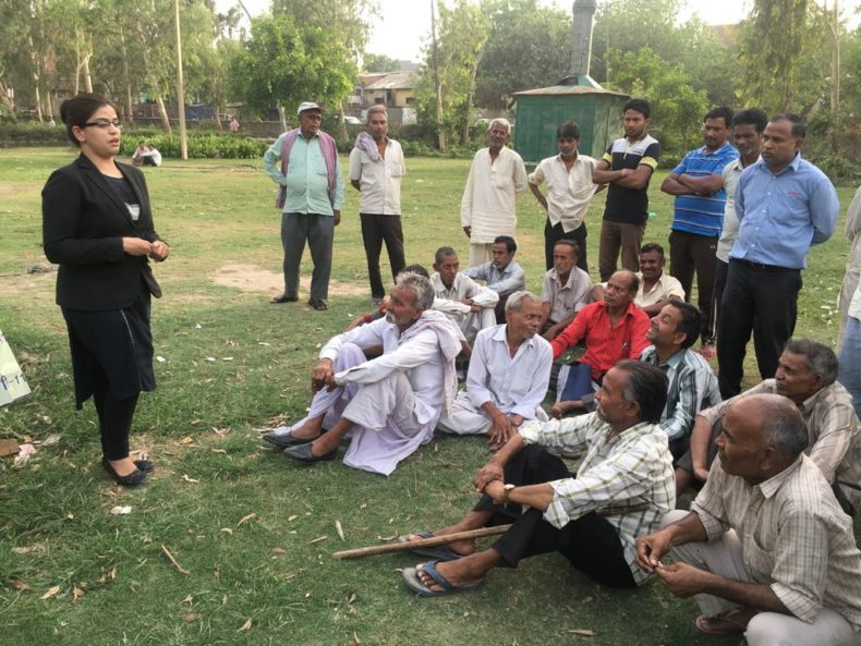 "DLSA Shahdara organized Legal Awareness Programme on the topic ""Benefits of senior Citizen regarding various schemes for example pension and under Senior Citizens Act, 2007"" at Mandoli Park, Sewa Dhaam, Harsh Vihar, Delhi on 16.05.2018."
