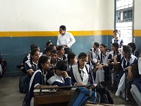 "Legal Literacy Classes on Module of Sexual Violence ""Child Abuse and Violence-Interpersonal and Digital World"" was conducted for Children studying in class 9th to 12th Class at Sarvodaya Kanya Vidhalaya, G T Road Shahdara, Delhi on 12.07.2018."