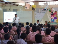 """Legal Literacy Classes on Module of Sexual Violence """"Child Abuse and Violence-Interpersonal and Digital World"""" was conducted for Children studying in class 9th to 12th Class at Vivekanand Public School, B-Block, Anand Vihar, Delhi on 10.07.2018."""