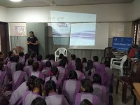 "Legal Literacy Classes on Module of Sexual Violence ""Child Abuse and Violence-Interpersonal and Digital World"" was conducted for Children studying in class 9th to 12th Class at Sarvodaya Kanya Vidhalaya, Zeenat Mahal Jafrabad, Delhi on 16.07.2018."