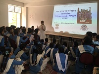"Legal Literacy Classes on Module of Sexual Violence ""Child Abuse and Violence-Interpersonal and Digital World"" was conducted for Children studying in class 9th to 12th Class at Govt. Girls Senior Secondary School, Jafrabad Extn, Delhi on 10.07.2018."