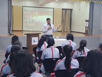 "Legal Literacy Classes on Module of Sexual Violence ""Child Abuse and Violence-Interpersonal and Digital World"" was conducted for Children studying in class 9th to 12th Class at GD Goenka Public School, Behind Karkardooma Courts Metro Station, Delhi – 110092"