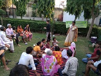"DLSA Shahdara organized Legal Awareness Programme on the topic ""Maintenance and Welfare of Parents and Senior Citizens Act, 2007"" at Mansarovar Park, Near Fly Over, Shahdara, Delhi on 18.08.2018."