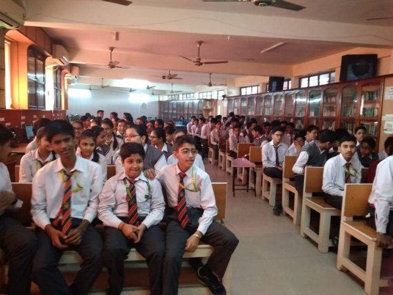 """DLSA Shahdara organized a Legal Awareness Programme on the topic """"Sexual Violence-Interpersonal and Digital Interace"""" at Green Field School, Dilshad Garden, Delhi on 24.11.2018."""
