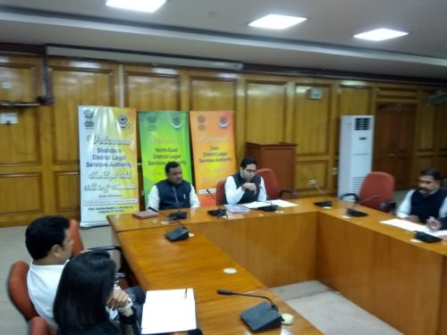 """DLSA Shahdara in association with DLSA North East and DLSA East organized a Monthly Capacity Building/Training Programme for Panel Advocates of ADJ Courts, Family Courts & Civil Courts on the topic """"Important Provisions under Delhi Rent Control Act"""" on 22.11.2018 at Conference Hall, 3rd Floor, Karkardooma Courts, Delhi."""