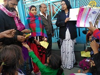 """DLSA Shahdara in association with CFAR NGO organized a Legal Awareness Camp on the topic """"Legal Services to workers in unorganised Sector"""" on 26.01.2019 at Hasanpur Depot, Part-2, Nand Nagri, Delhi."""
