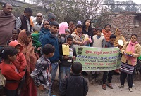 """DLSA Shahdara in association with CFAR NGO organized a Legal Awareness Camp on the topic """"Legal Services to victims of Drug Abuse"""" on 31.01.2019 at Mansarovar Park, Laal Bagh Basti, Delhi."""
