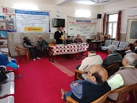 "DLSA Shahdara in association with DLSA North East, Das Senior Citizen Organization and Help Age India organized an Awareness Programme on ""Maintenance and Welfare of Parents and Senior Citizens Act, 2007"" & ""Law on Wills"" for Senior Citizens on 22.02.2019 at Senior Citizens Recreational Center, EDMC Hall, Pocket B, Dilshad Garden, Delhi."