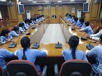 A visit of Students of Angels Public Senior Secondary School, Vishwas Nagar, Shahdara, Delhi-110032 was conducted by DLSA Shahdara on 16.04.2019, where 40 Students visited Karkardooma Courts. The visit included observance of Court proceedings – Civil, Criminal and Family Courts and Front Office of DLSA Shahdara. The students were also briefed about basic structure, functioning and activities carried out by Legal Services Authority.