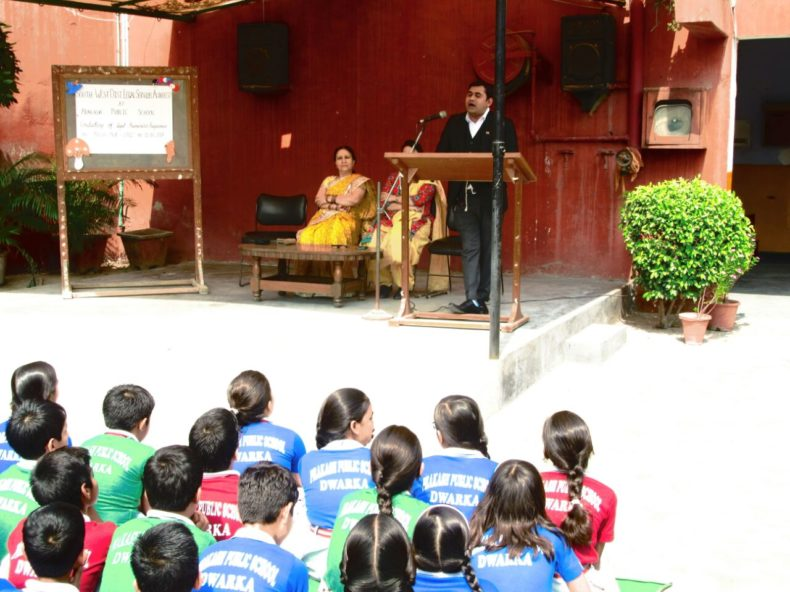 Legal Awareness Programme on the topic 'POCSO Act-2012' on today i.e. 11.10.2017 at 11.30 am with the student of Prakash Public School, Sector-07, Dwarka