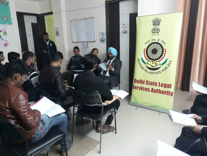 Legal Literacy Programme at Kapashera on 12.01.2018