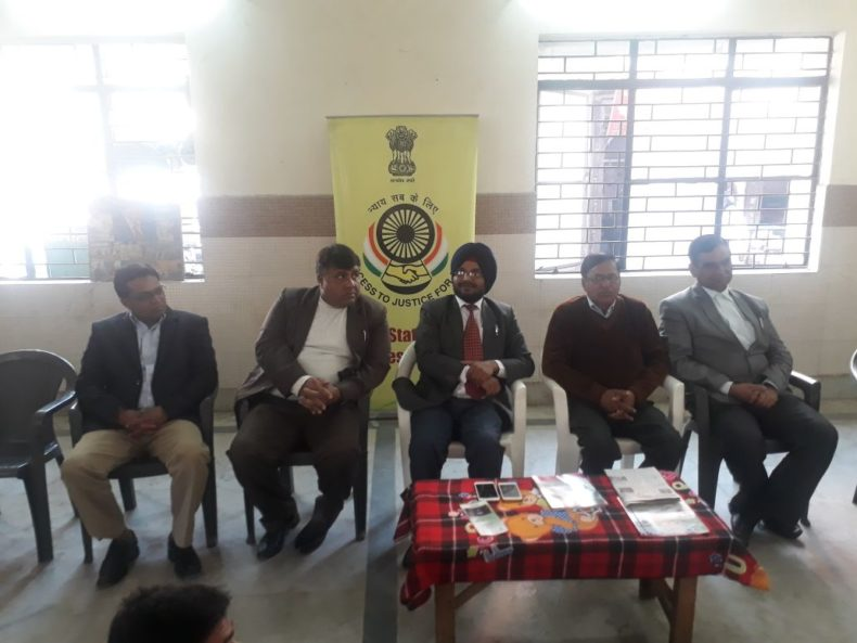 Legal Literacy Camp at Samta Foundation, Arjun Park Extn, Najafgarh on 21.01.2018